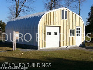 Durospan Steel 30x34x14 Metal Building Shed Structure Open Ends Factory Direct
