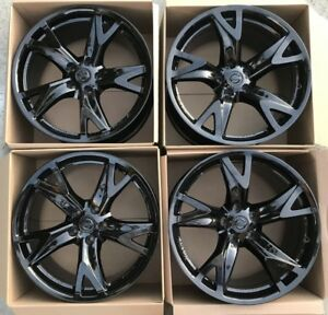 19 Nissan 370z Forged Rays Black Original Oem Factory Wheels Rims