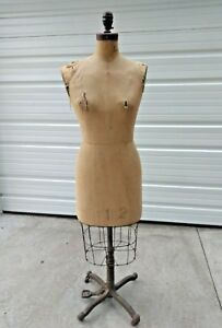 Antique Collapsible Ny 12 Dress Form Adjustable 36 27 36 Approx 1920 s