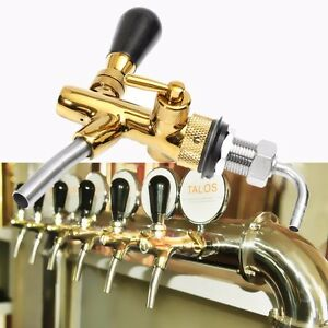 Adjustable Draft Beer Faucet G5 8 Shank W Chrome Plating For Kegerator Tap