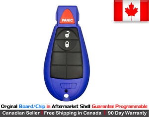 1 Oem New Blue Replacement Keyless Entry Remote Key Fob For Chrysler Dodge Jeep