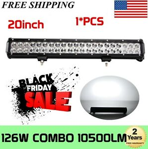 20 inch 126w Led Work Light Bar Combo Offroad Pickup Bumper Suv Atv 22 24 120w