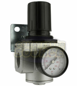 New 1 Inline Air Compressor In Line Regulator Pressure Gauge