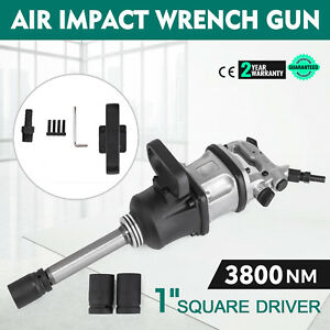 1 Square Drive Air Impact Wrench Gun 3800 N m Long Shank 8inch New Tool Pro
