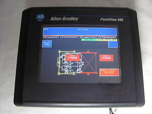 Allen Bradley Panelview 600 2711 t6c20l1 Ser B Color Interface Good Shape