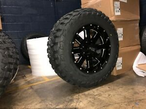 18x9 Moto Metal Mo962 Black Wheels 33 Mt Tires Package 5x5 Jeep Wrangler Jk