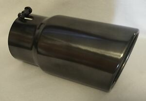 4 In X 6 Out X 12 l Black Chrome Diesel Exhaust Tip Ford Chevy Dodge