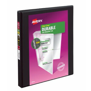 New Avery 1 2 Black Durable Slant Ring View Binders 12pk 17001