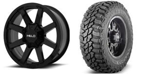 Helo He909 17x9 Wheels Rims 33 Mxt Mt Tires Package 8x170 Ford F250 8 Lug
