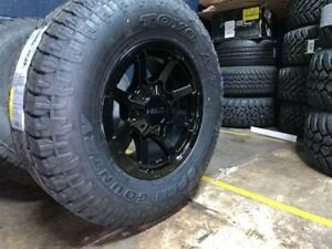 Helo He909 17x9 Wheels Rims 33 Toyo At Tires Package 5x5 Jeep Wrangler Jk Jl