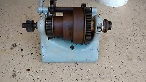 Vintage W f J Barnes 10 Metal Lathe Headstock Pulley Gear Assembly
