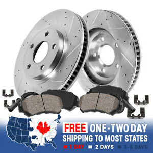 Front Drilled Slotted Brake Rotors And Ceramic Pads For Ford F 250 F 350 F 450