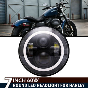 7 Motorcycle Projector Daymaker Black Led Headlight For Harley Davidson Touring