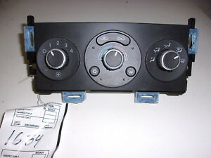 Pontiac G6 Manual Ac Heater Control 2005 2009