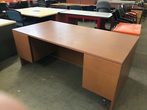 72 wx36 dx29 1 2 h Executive Desk By Lacasse Office Furniture Incherry Laminate