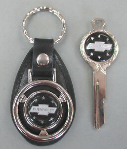 Chevy Truck Black Deluxe Classic White Gold Key Set Chevrolet Bow Tie 1935 1966