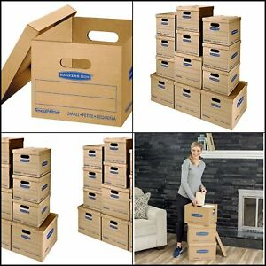 Classic Moving Kit Boxes With Lid Tape free Assembly Carry Handles