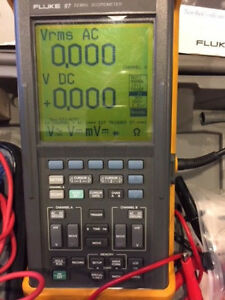 Fluke 97 Scopemeter Dual Channel 50mhz With Probes Power Supply