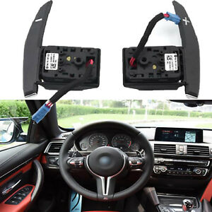 2x Steering Wheel Shift Paddle Shifter Extension For Bmw F20 F30 X3 X5 F15 X6