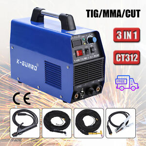 3in1 Plasma Cutter Tig Mma Welder Cutting Welding Machine Ct 312 Ct312 Blue