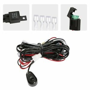 Outad Wiring Harness Kit For Off Road Led Light Bar Power Relay Blade Fuse