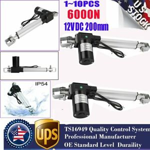 1 10pcs Linear Actuator 6000n Heavy Duty With Brackets Stroke 12 Volt Dc Lot Dr