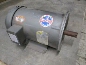 Baldor Ac Motor Cm3615t 5hp 1800rpm 208 230 460v 15 13 2 6 6a 60hz 3ph Used