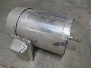 Gator Stainless Steel Ac Motor Csstr18 056 34 75hp 1800rpm 208 230 460v Used
