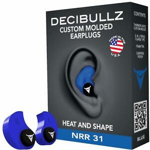 Custom Molded Ear Plugs For Swimming Shooting Hearing Protection Safety New