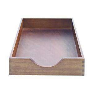 Carver Hardwood Stackable Desk Tray Letter Size 13 5 X 11 X 2 75 Inches