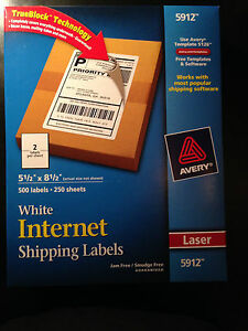Avery 5912 Internet Labels 5 5x 8 5 500 Labels New W free Priority Mail Ship