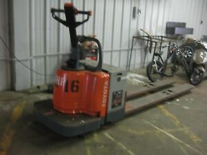 Toyota 6hbe30 Double Electric Pallet Jack 96 Forks 6 000 Lb Capacity Chass