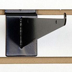 New 10 Slatwall Knife Shelf Brackets With Lip Black 48pcs