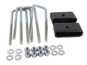 2 Rear Lift Leveling Kit For 95 18 Toyota Tacoma 6 lug Steel Blocks U bolts