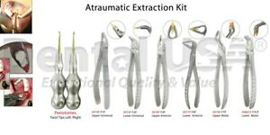 Dental Extraction Forcpes Kit With Twist Periotome Set 8pcs By Dental Usa 5041
