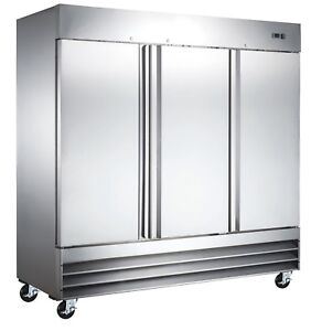 Triplex Heavy Duty Commercial Reach In Freezer three Door Allstainless Steel
