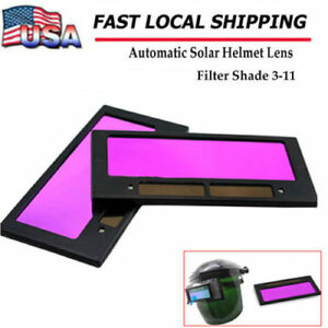 4 1 4 X 2 Solar Auto Darkening Welding Lens Hood Filter Shade 3 11 Us Ship New