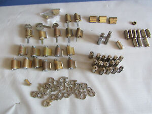 Lot Of 50 Corbin Russwin Sargent Cylinder Cores Some W keys 6 Pin Mortise Cams