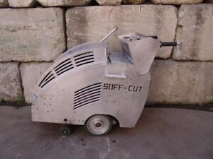 Soff Cut G 2000 Walk Behind Concrete Saw With 9 Hp Honda Motor Works Fine