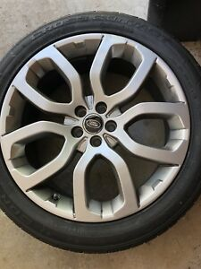 Land Range Rover Evoque Oem Factory Wheels Tires Excellent Condition 20 Inch