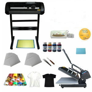 Heat Press Machine Vinyl Cutter Printer Ink Paper T shirt Transfer Start up Kit