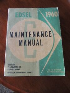 1960 Edsel Original Maintenance Manual