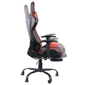Computer Gaming Office Chair Racing High Back Recliner Swivel Executive Footrest