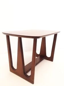 Mid Century Modern Eames End Side Table Walnut Broyhill Brasilia Style Danish
