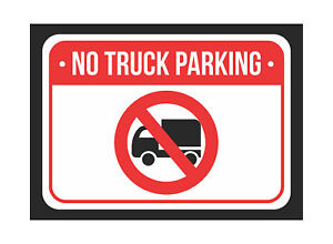 No Truck Parking Red White Black Notice Plastic Small 6pk Sign 7 5x10 5