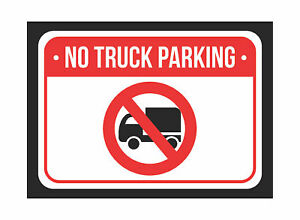 No Truck Parking Print Red White Black Notice Metal Small 4 Pk Sign 7 5x10 5