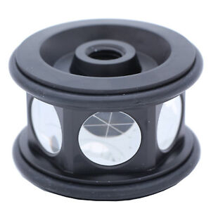 New 360 Degree Silver Reflective Prism For Robotic Total Station All Metal Body