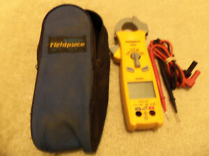 Fieldpiece Sc420 Digital Clamp Multimeter With Leads And Soft Case For Hvacr