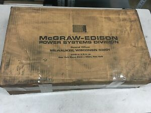 New In Box Mcgraw edison Type D2 Disconnect Switch Fw15d4l