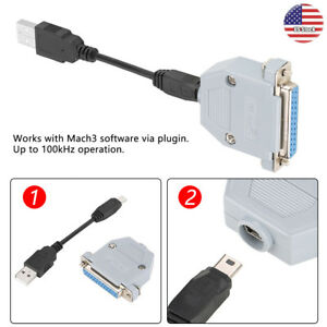 Uc100 Cnc 25 Pin Usb To Parallel Adapter Stepper Motion Controller For Mach3 Us